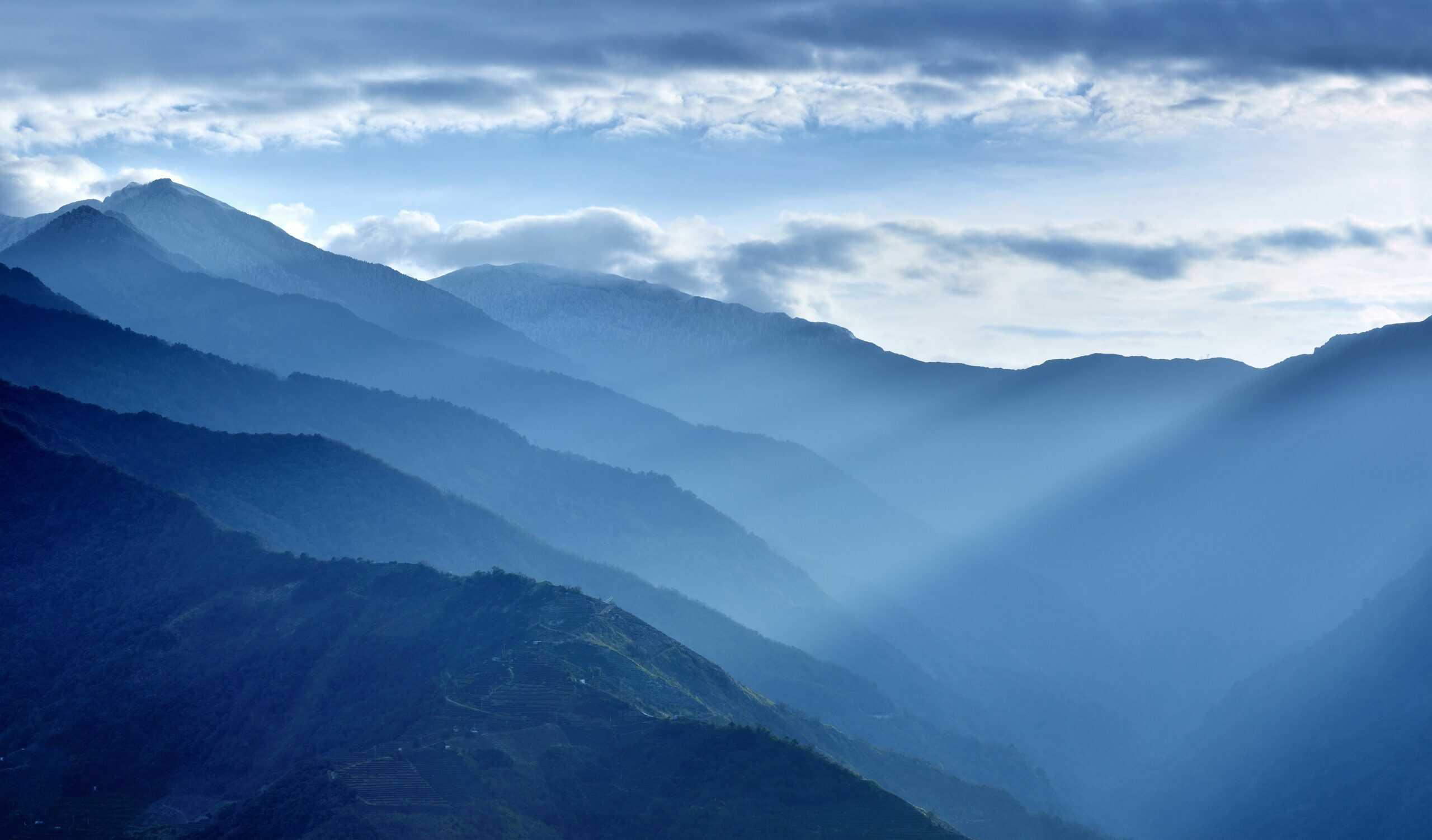 I stock montagne ciel